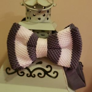 Other - Boys/ men bowtie- white and charcoal